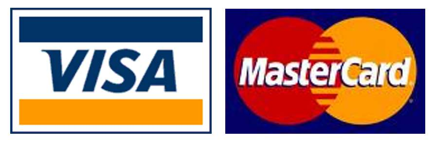 We proudly accept Visa and MasterCard