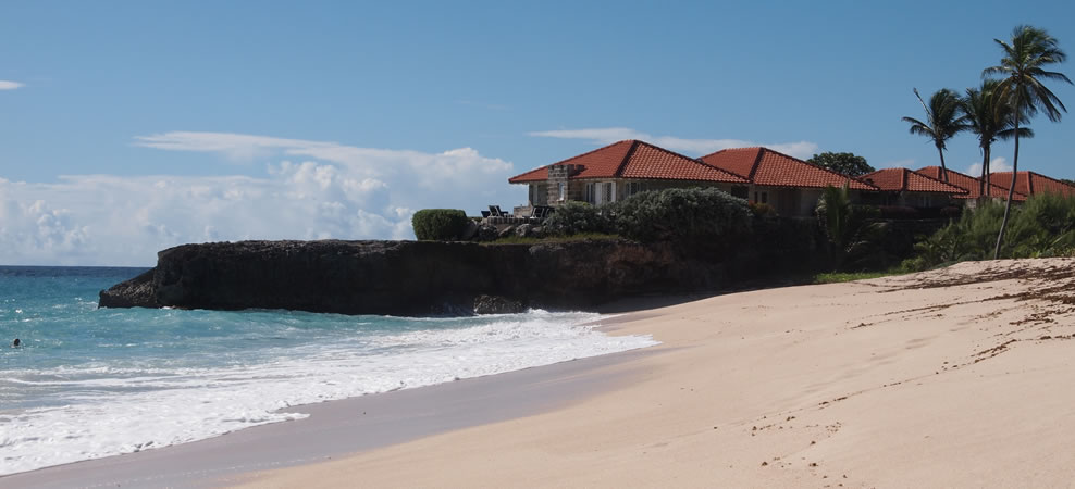 photo of beach adjacent to villa